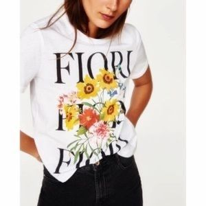 🌟3 for $15🌟 Zara floral graphic tee
